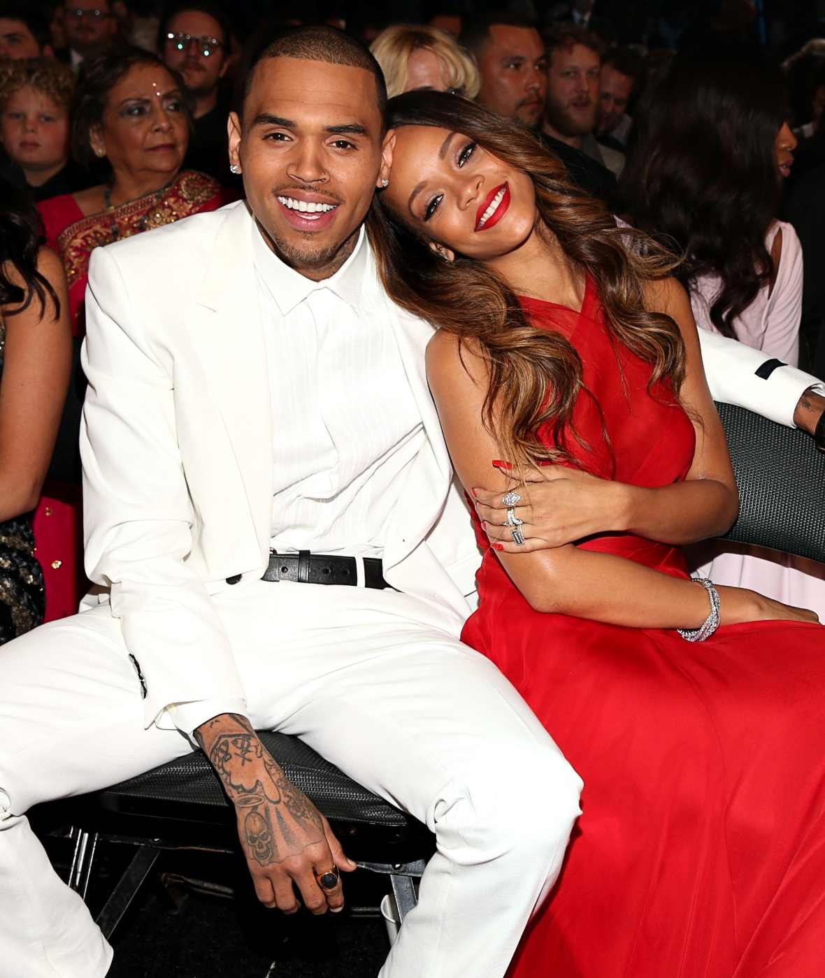 chris brown rihanna getty images