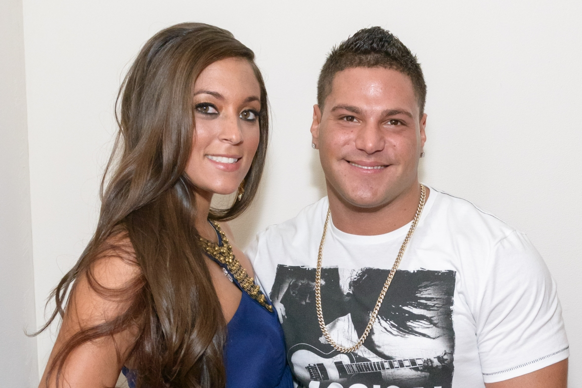 """ronnie magro sammi \""""sweetheart\"""" giancola getty images"""