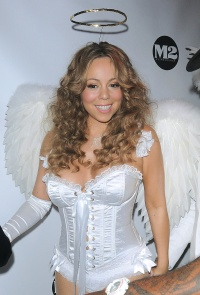 Mariah Carey Wears Sexy Angel Halloween Costume