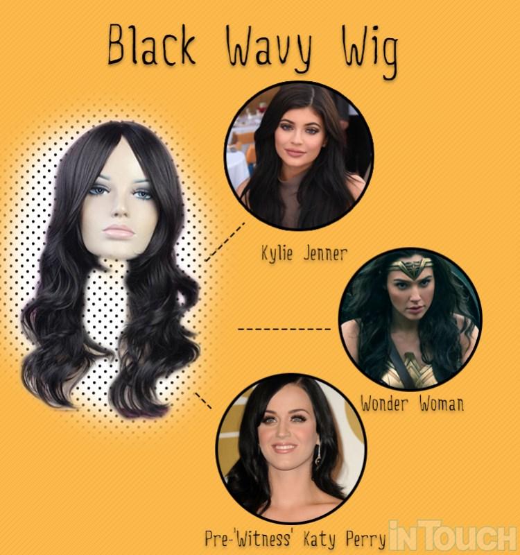 black wavy wig