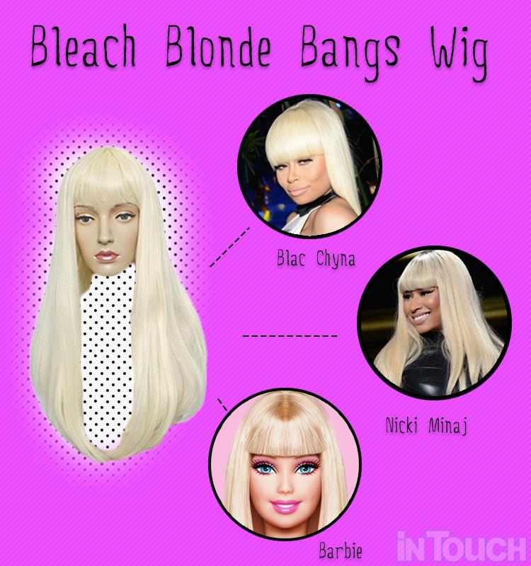 bleach blonde bangs wig