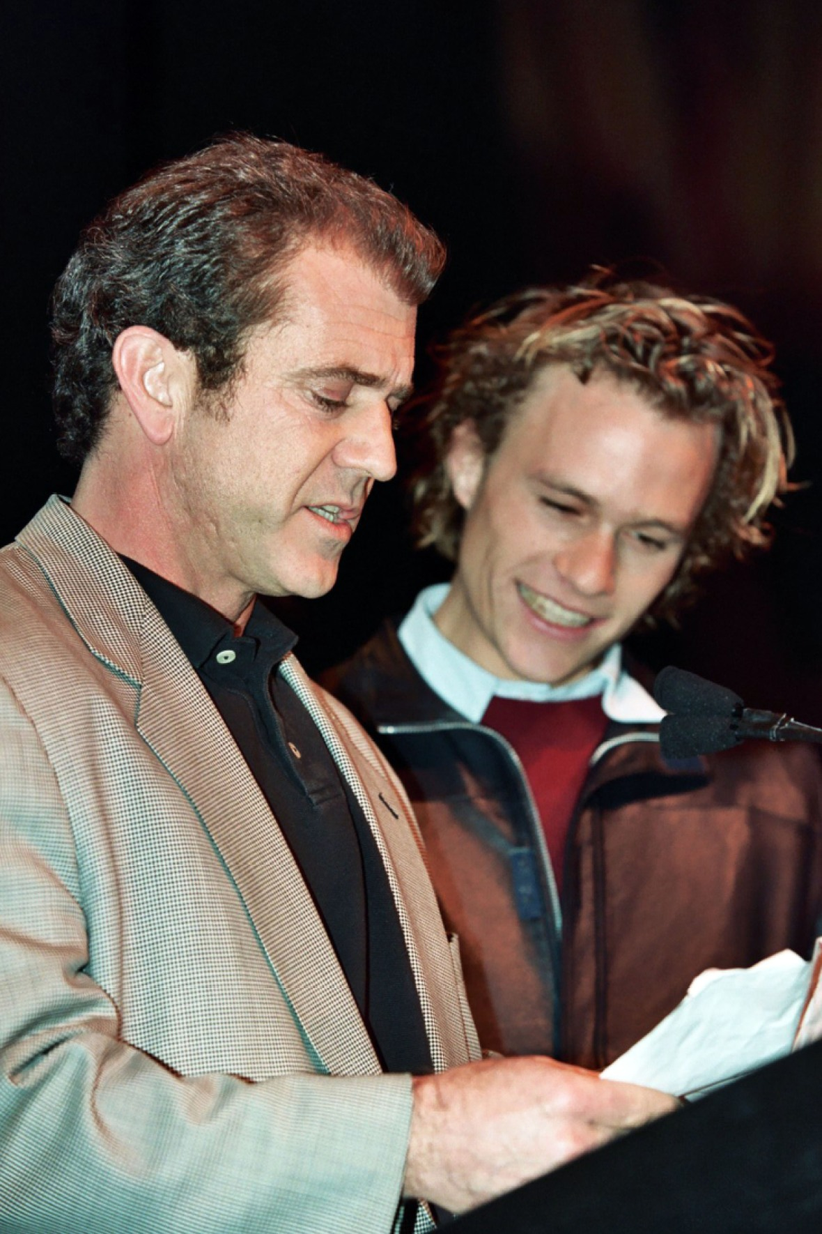 heath ledger and mel gibson getty images