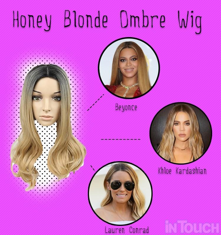 honey blonde ombre wig