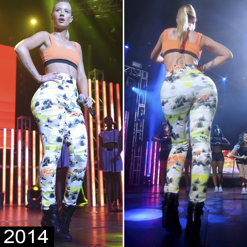 Iggy Azalea Booty Pictures is iggy azalea's booty fake? see the times her butt looked huge