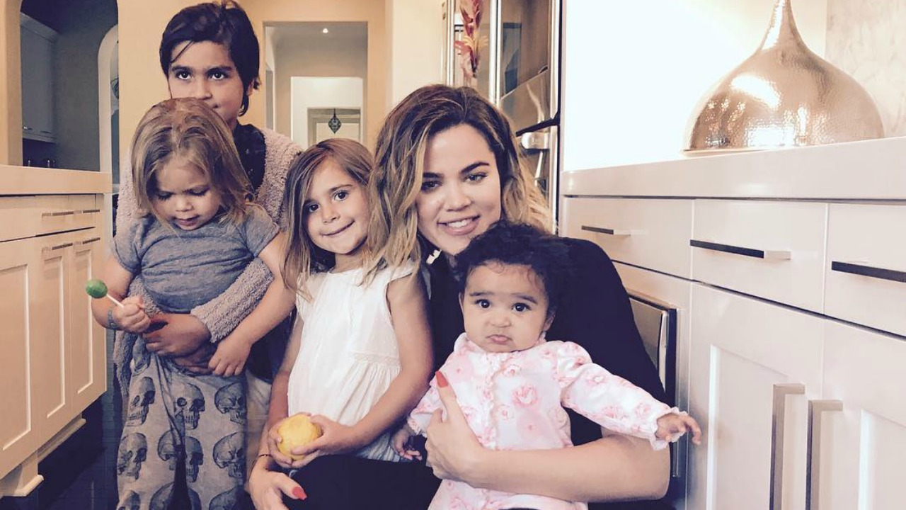 khloe kardashian instagram with kids