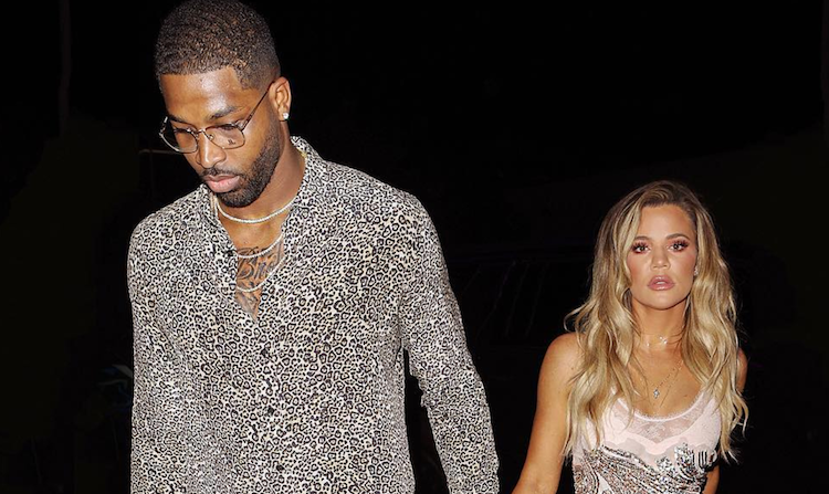 Khloe Kardashian and Tristan Thompson holding hands