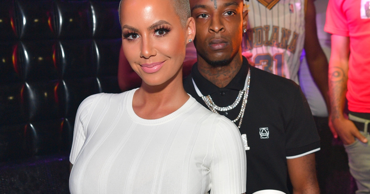 are amber rose and 21 savage engaged see pic sparking speculation https www intouchweekly com posts amber rose and 21 savage engaged 143175