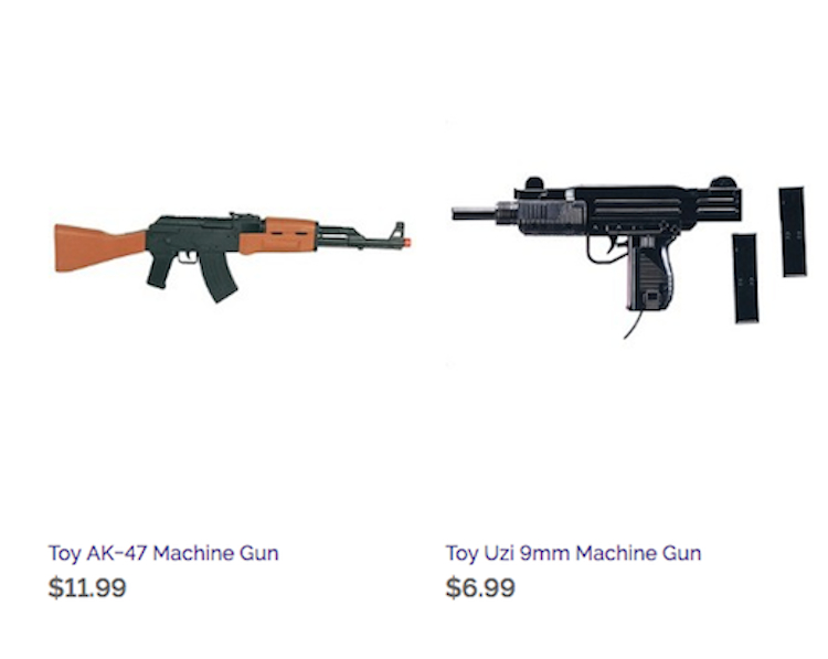 toy guns —halloween costumes