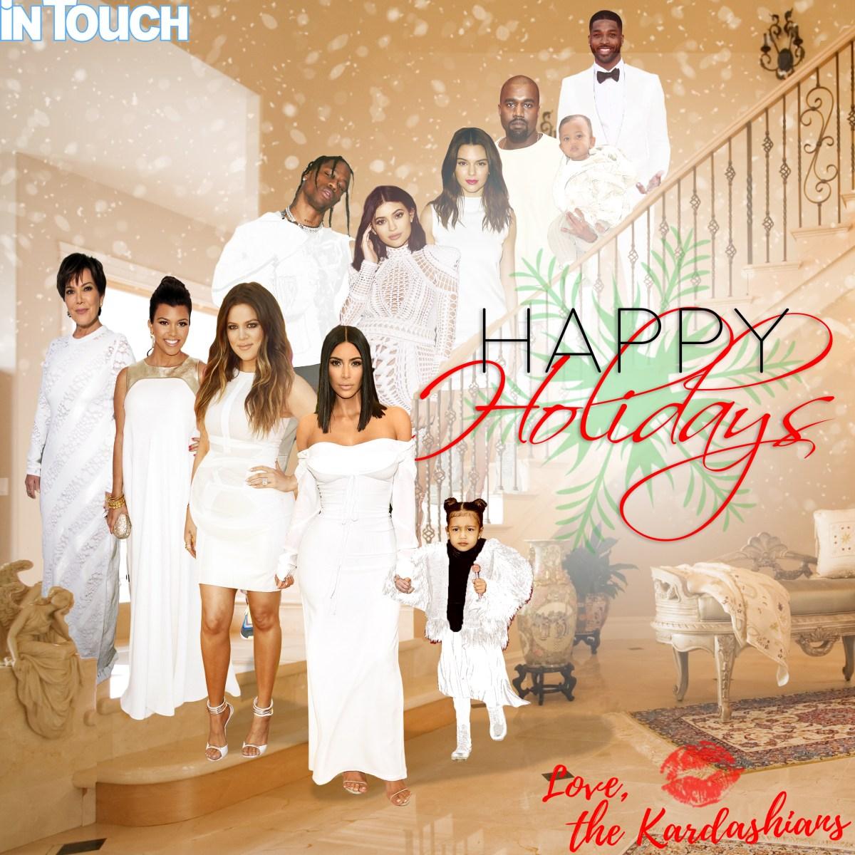 kardashian christmas cards over the years  christmas cards