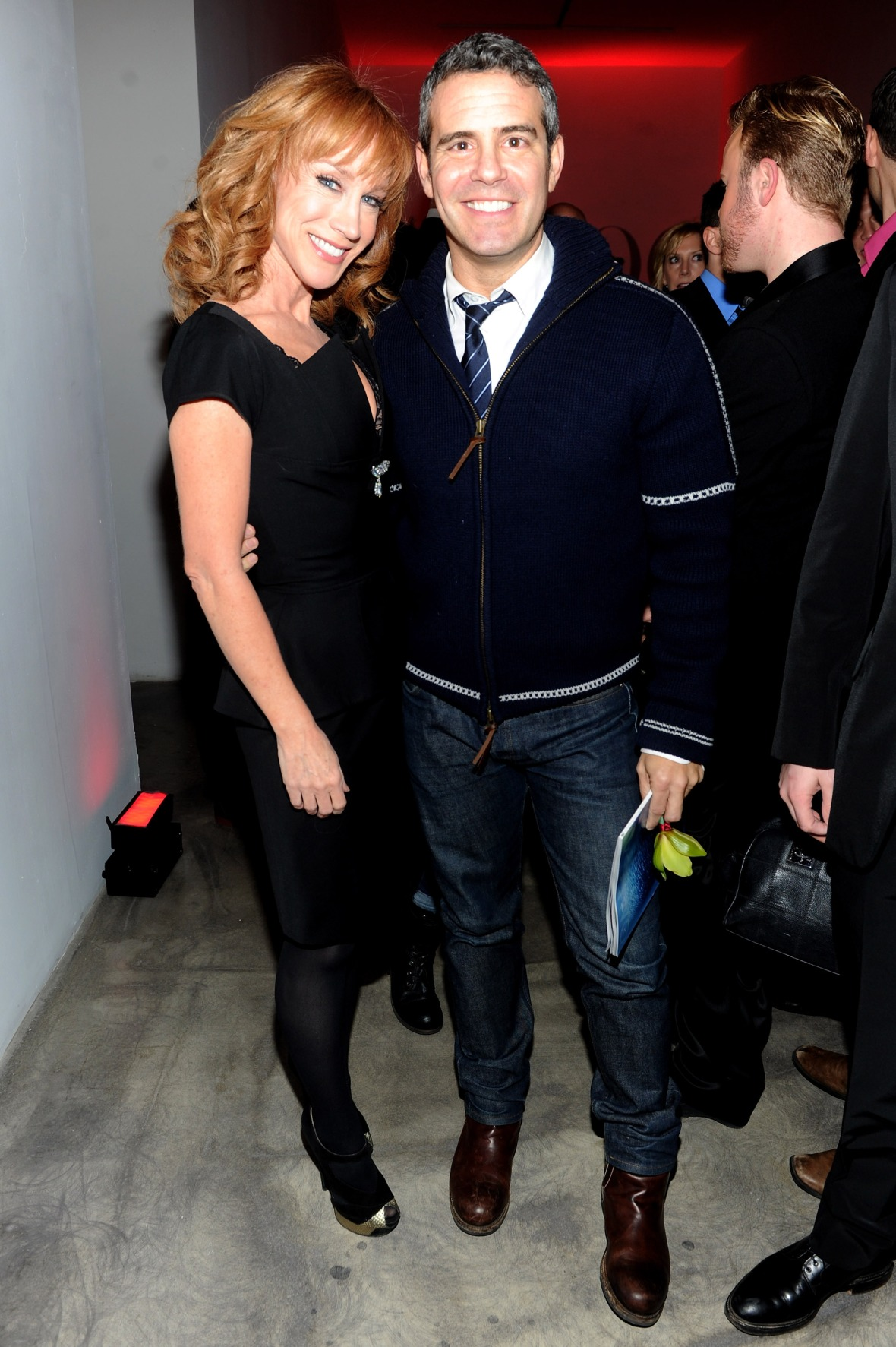 kathy griffin and andy cohen - getty