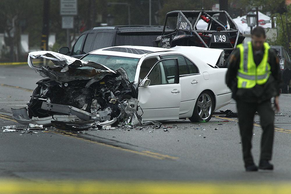 caitlyn jenner car crash getty