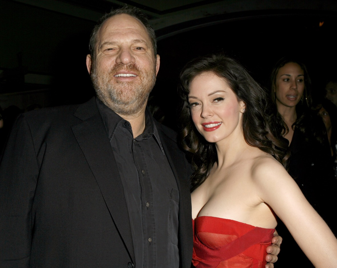 harvey weinstein rose mcgowan - getty