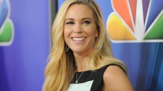 Kate Gosselin In Front Of NBC Step-and-Repeat