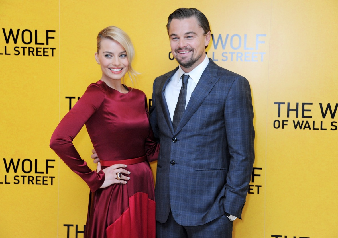 margot robbie leonardo dicaprio getty