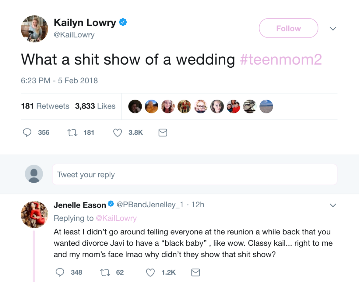Teen Mom 2 Co-Stars Kailyn Lowry and Jenelle Evans Feud on