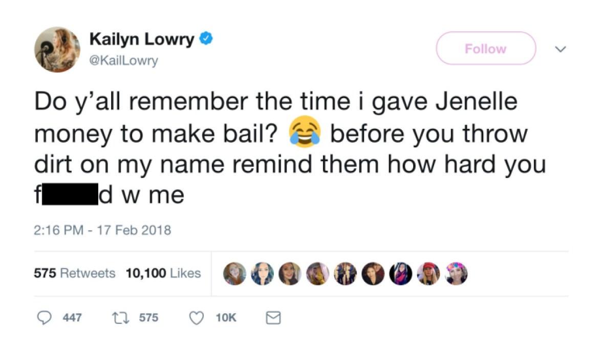 kailyn lowry jenelle evans bail twitter
