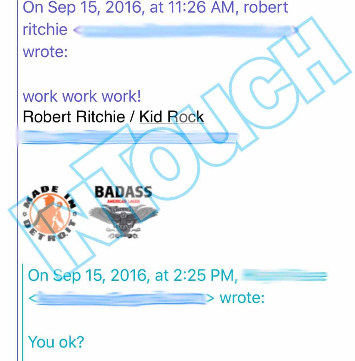 kid rock email 2, in touch