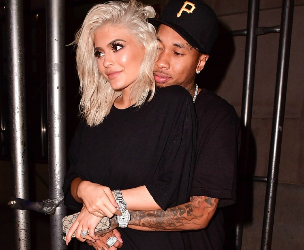 kylie jenner tyga getty images
