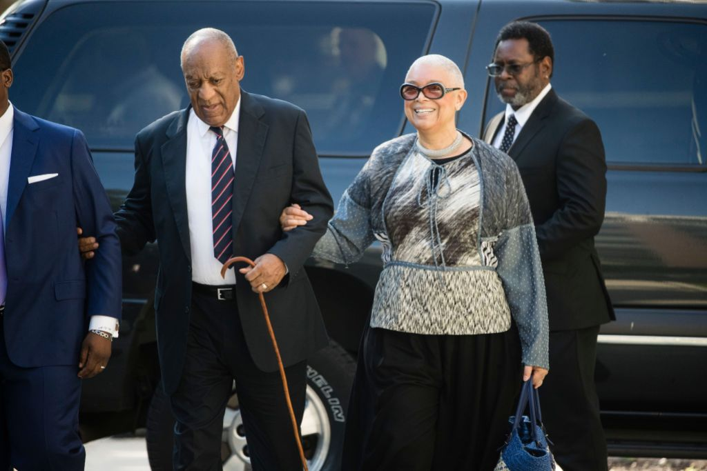Bill and Camille Cosby Walking Into Court