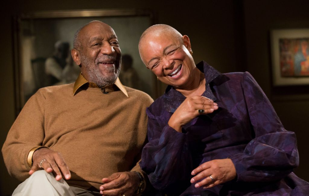 Bill and Camille Cosby Laughing
