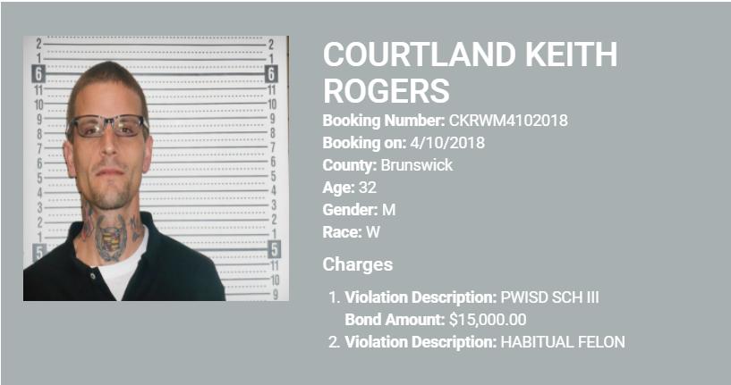 courtland rogers mugshot