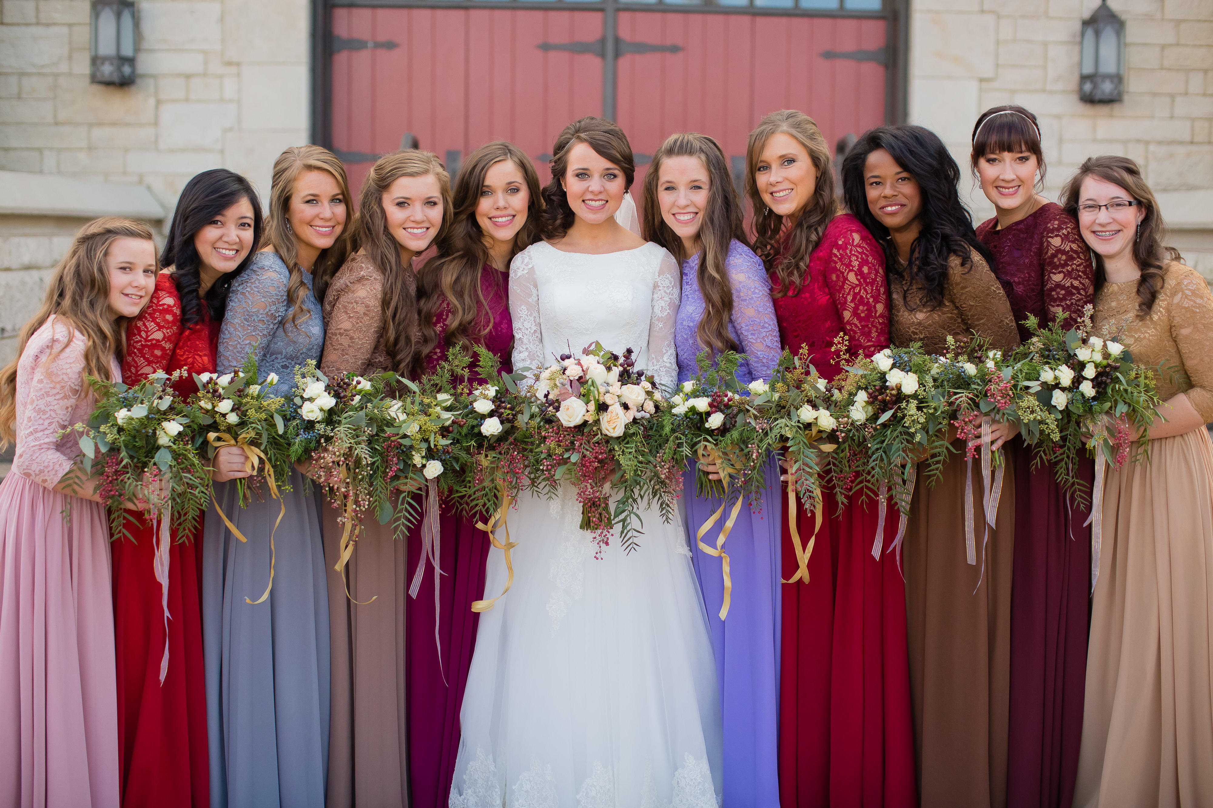 Duggar Girls Wedding Dresses See All The Beautiful Gowns