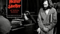 Helter Skelter Cover over Photo of Charles Manson in Court