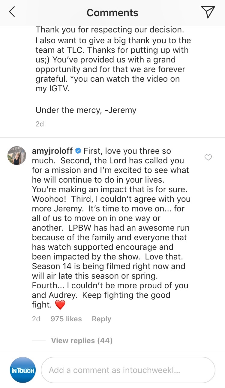 amy roloff cryptic message