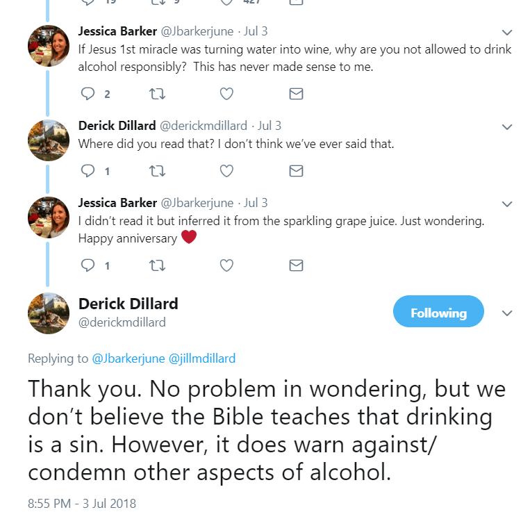 derick dillard alcohol