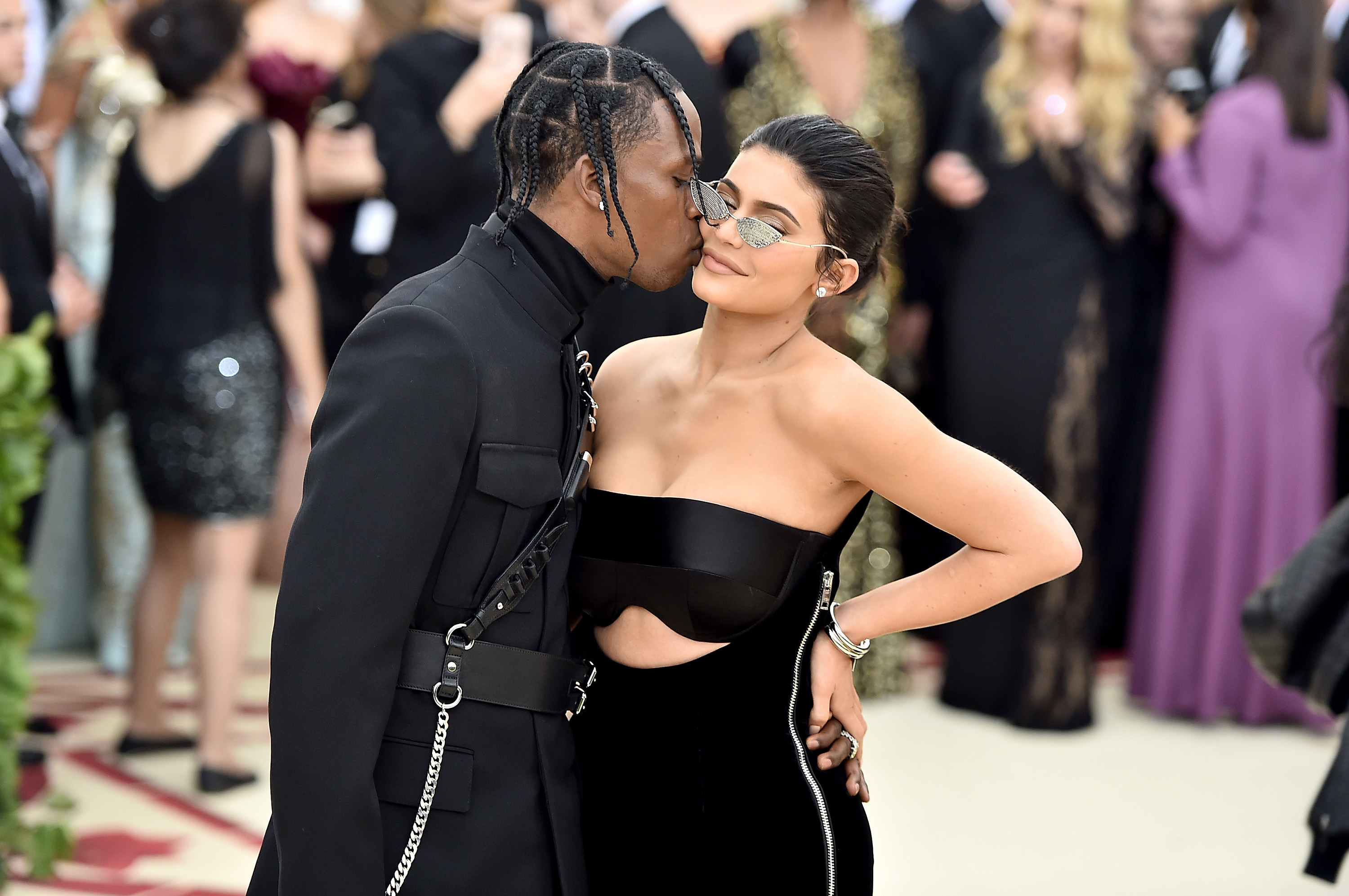 Travis Scott Shares a Rare PDA Picture With Kylie Jenner on Snapchat