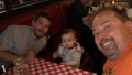 Randy Houska at Restaurant with Cole and Watson