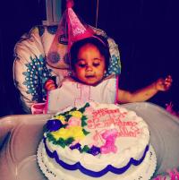 Amabella Eating Cake