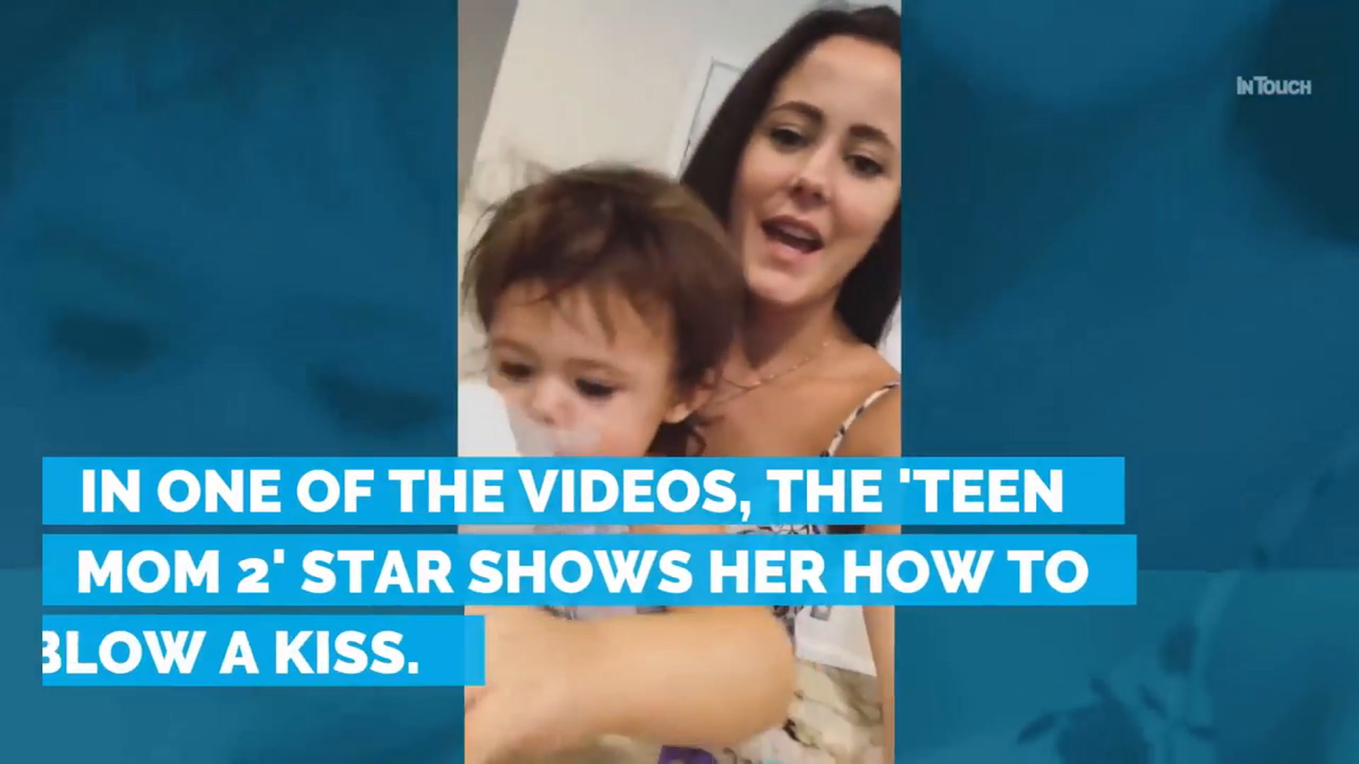 Jenelle Evans Teaches Ensley How To Blow A Kiss