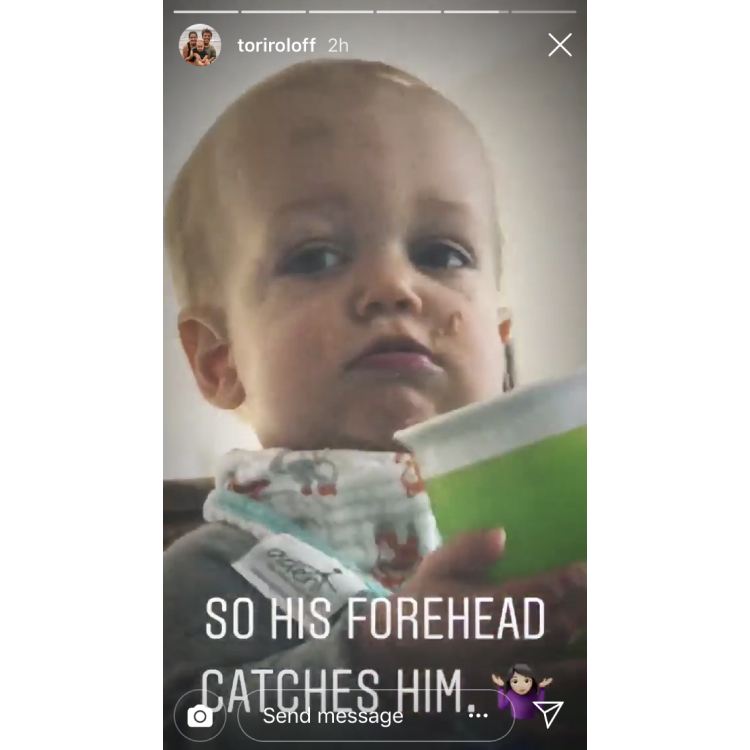 jackson roloff has a bruise on his forehead