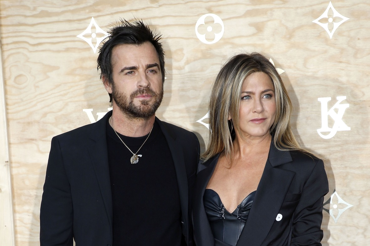 justin theroux jennifer aniston getty images