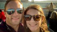Adam And Danielle Busby Smiling In Sunglasses