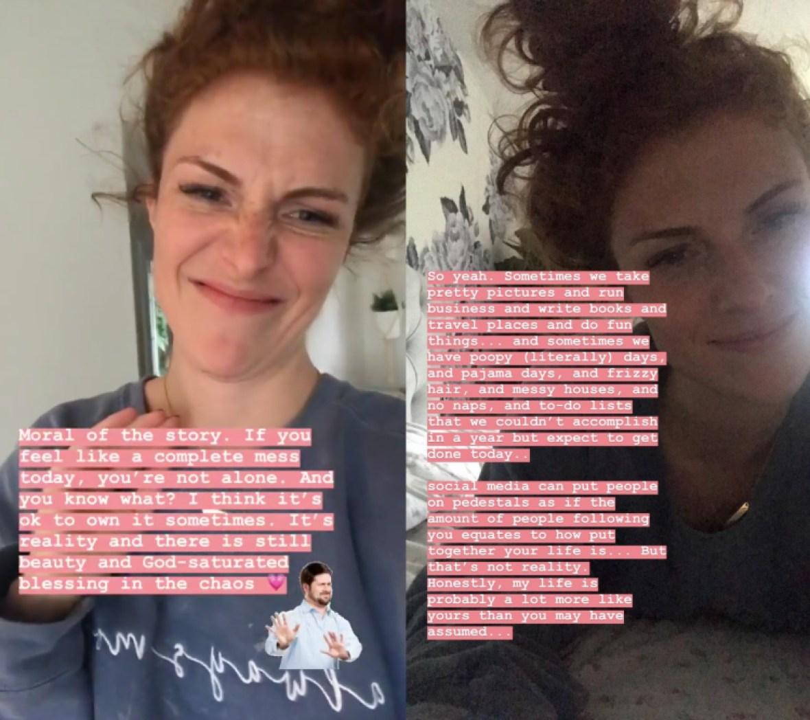 audrey roloff talks motherhood on instagram story