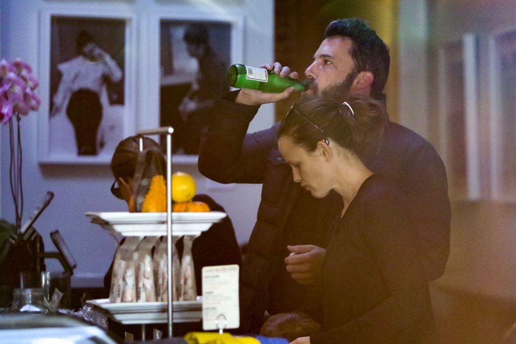 Ben Affleck drinking