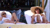 Caitlyn Jenner And Sophia Hutchins Lounging