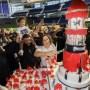 DJ Khaled, Nicole Tuck, and Asahd Cut Birthday Cake