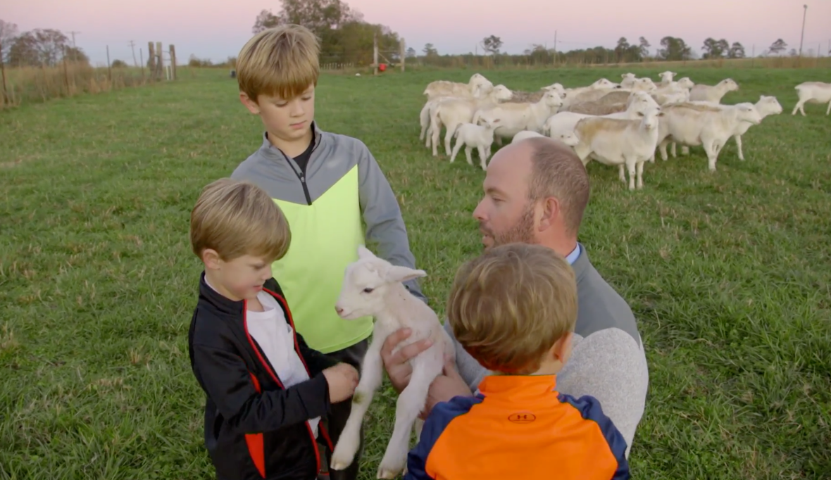 'sweet home sextuplets' star eric waldrop's sheep farm