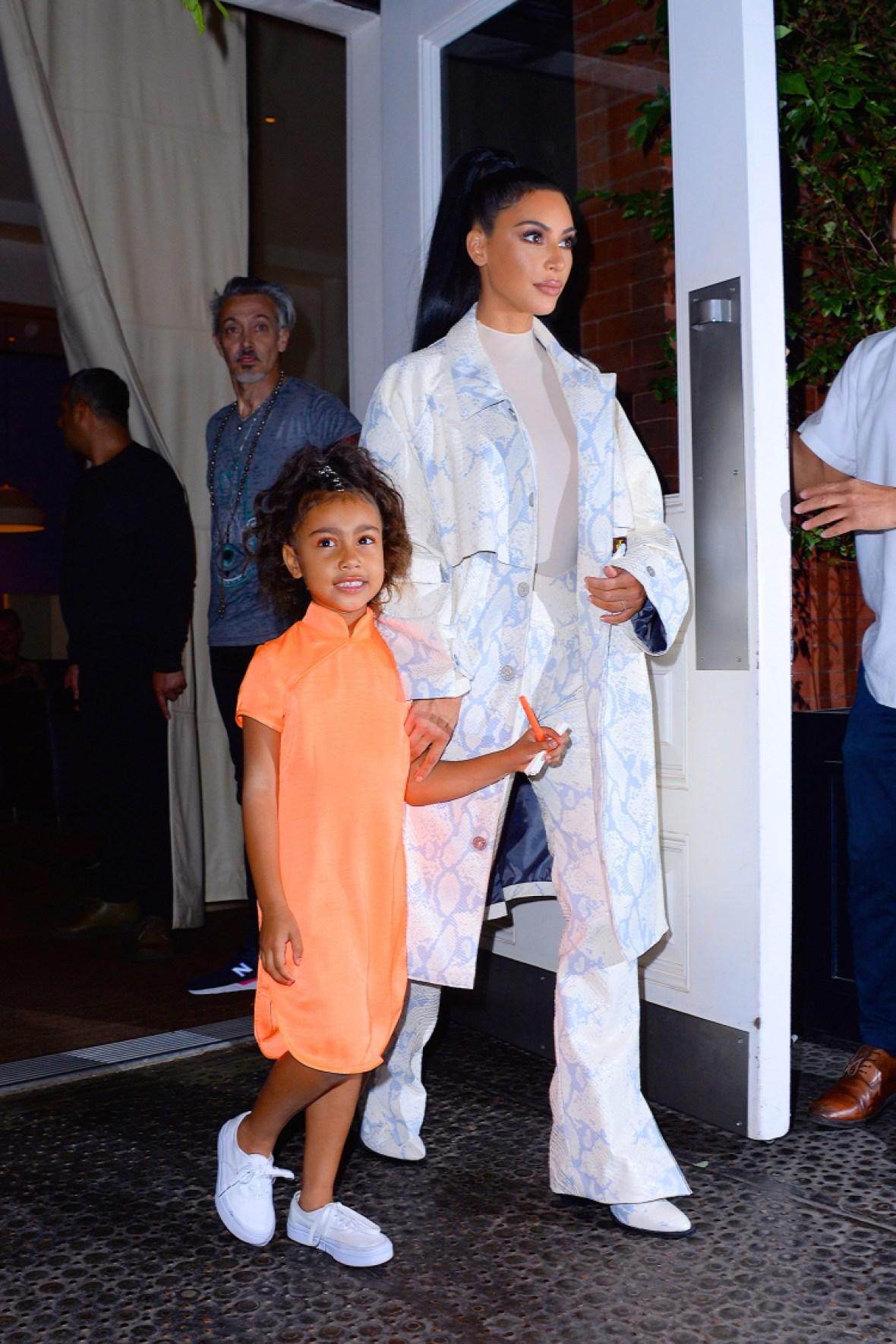 kim kardashian and daughter north west
