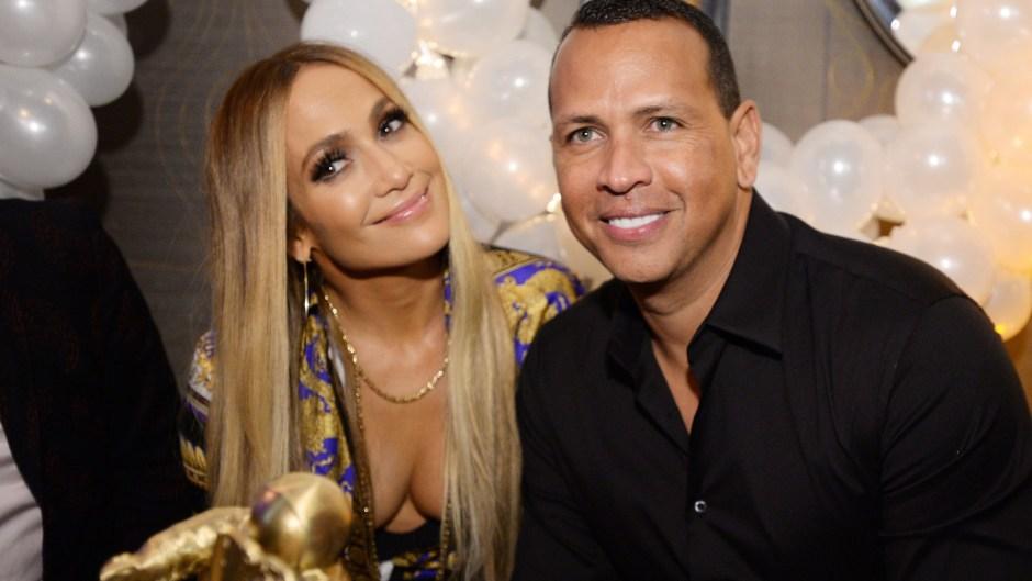 Jennifer Lopez And Alex Rodriguez Smiling
