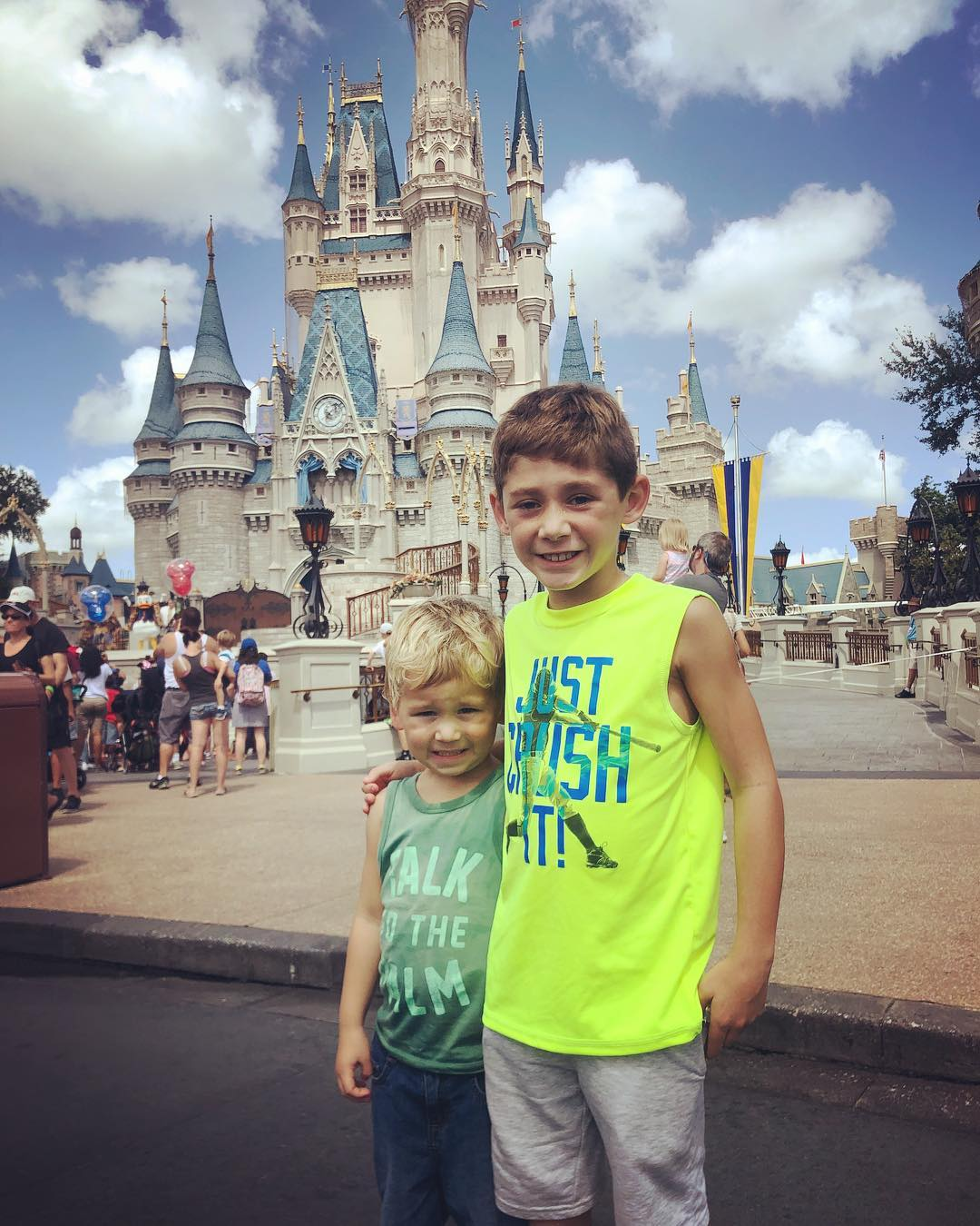 Jenelle Evans' Sons Jace and Kaiser Smile At Disneyland