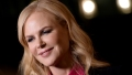 Nicole Kidman close up of her face wearing pink shirt