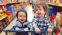Spurgeon And Henry Seewald In A Grocery Cart
