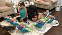 Courtney And Eric Waldrop With Sextuplets