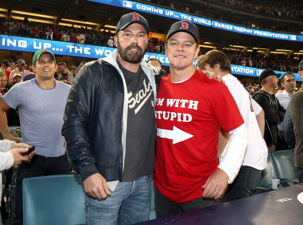 Ben and Matt at a World Series game
