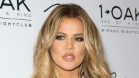 Khloe Kardashian with blonde hair at an event in Las Vegas