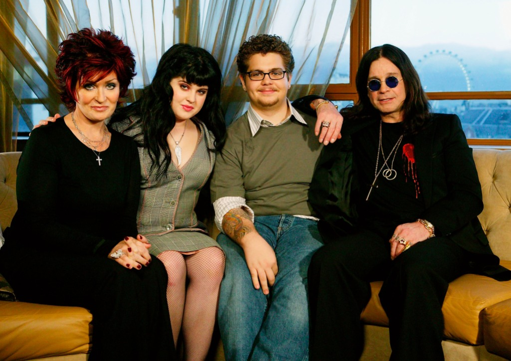 The Osbournes all together for a family photo